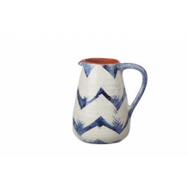 SIROCO - pitcher - earthenware - hand painted - DIA 15 x H 20 cm