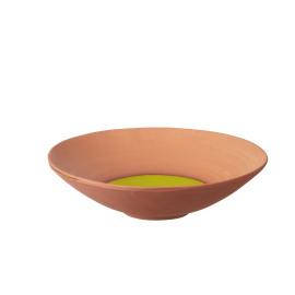 PALOMA - plat rond - GM - terre cuite - vert - Ø43x12cm