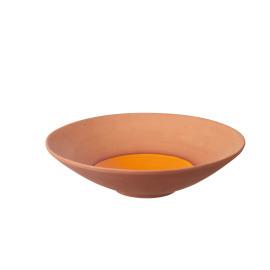 PALOMA - plat rond - GM - terre cuite - orange - Ø43x12cm