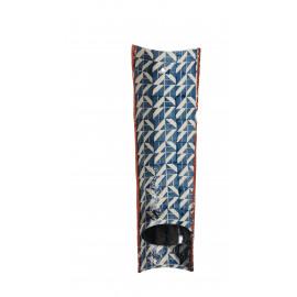 TUILE - muur kaarsenhouder - terracotta - jeans - 15x6x50cm
