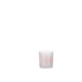 LOZA - windlicht - glas - roze - S - Ø7,3x8cm