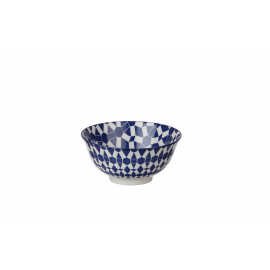 DZIPA - bowl - porcelain - blue - L - Ø15x7cm
