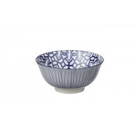 DZIPA - bowl - porselein - blauw - L - Ø15x7cm