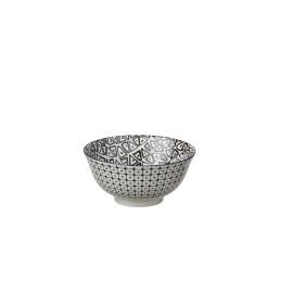 DZIPA - bowl - porselein - zwart - L - Ø15x7cm