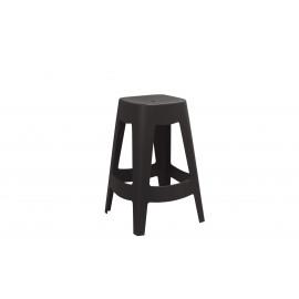 ORSO - barkruk - plastiek - zwart - 44x44x68,5cm