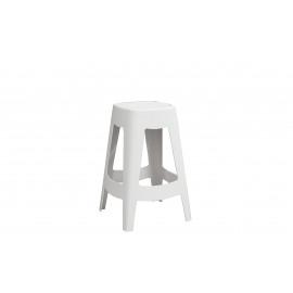 ORSO - barkruk - plastiek - wit - 44x44x68,5cm