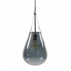 BULLIA - hanging lamp - blown glass / metal - DIA 25 x H 53 cm - smoke