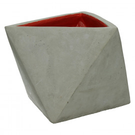 HAPPY - T/light  - concrete - red/matt - M - 17x15,5x12cm