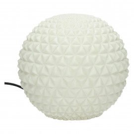 BE PURE - ball lamp - composite of sandstone - DIA 25 x H 25 cm - white