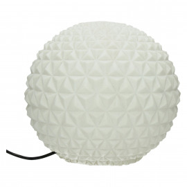BE PURE - boule lumineuse - composite de sable - DIA 40 x H 40 cm - blanc