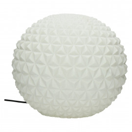 BE PURE - ball lamp - composite of sandstone - DIA 42 x H 42 cm - white