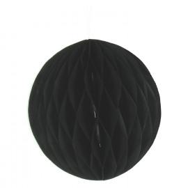 VELIUS - origami ball - paper - black - L - DIA 15 cm