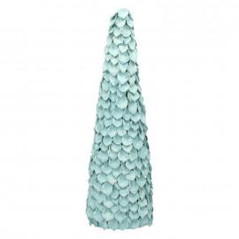 ÄKÄSLO - x-mas tree - pinecone - light blue/glitter - L - DIA 15 x H 48 cm
