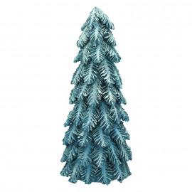 HÚSAVIK - x-mas tree - pinecone - dark blue/glitter - M - DIA 16 x H 40 cm