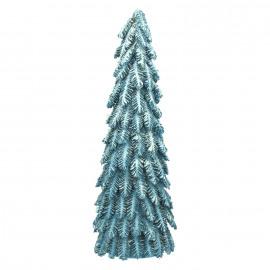 HÚSAVIK - kerstboom - pijnappel/glitter - donkerblauw/glitter - L - DIA 24 x H 72 cm