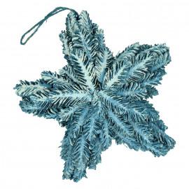 HÚSAVIK - ster - pijnappel/glitter - donkerblauw/glitter - M - 22x9x22cm