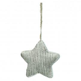 STJERNE - x-mas ornament - star - resin - champagne - 8x8x2,7cm
