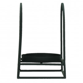 HIRO - support photophore - métal - noir - PM - 13x13x19cm