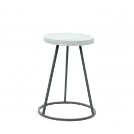 EGIS - Kruk - metaal - top beton - grijs - Ø 32x49 cm