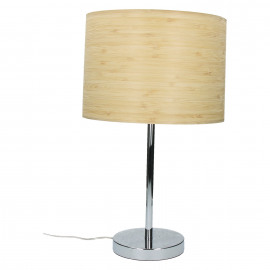 BORGA - table lamp E27 - iron - wooden shade -Ø28x47 cm