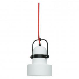 SICIA - Hanglamp E27 - keramiek - wit - Ø31x30 cm