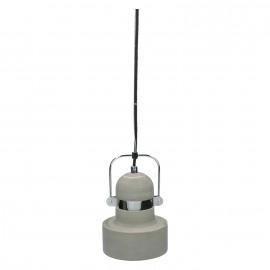 FELIA - hanging lamp E27 - iron - concrete -  Ø31x30 cm