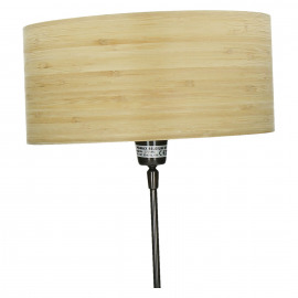BORGA - Lampekap hout - M - Ø30 x 14 cm
