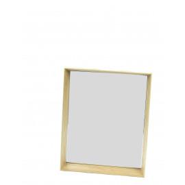 PESARE - spiegel - massief eiken omlijsting - naturel - M - 40 x 50 cm