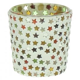 STARS -  T/light - étoiles - mosaique - verre - multicolore - PM - Ø6x6 cm