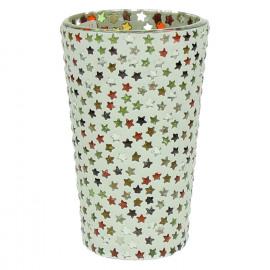 STARS -  T/light - étoiles - mosaique - verre - multicolore - GM - Ø8x12 cm