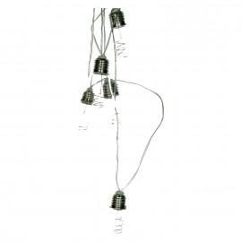 BULBS - slinger - buiten - glazen ampoules DIA 6 cm - 10 LED - transformer - 270cm