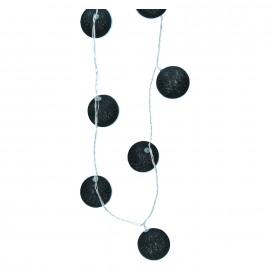FAIRY - guirlande - boules - 15 LED - noir - 210cm - adaptateur