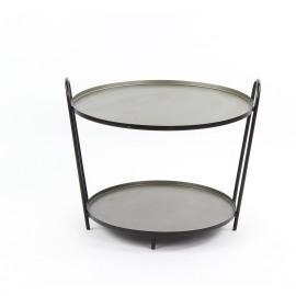 OLINA - bijzettafel - 2 legplanken - ijzer -  65x59x50 cm
