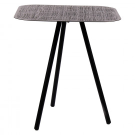 ALFIA - side table - iron - L 41 x W 41 x H 45 cm - grey