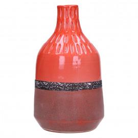 NANA - vaas - keramiek - rood - 13,5x13,5x25,5cm