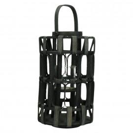 GIORGO - lantaarn - populier - L - DIA 24 x H 40 cm