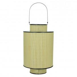 HINO - lantaarn - bamboe/metaal - cilinder - L -Ø23xH35 cm