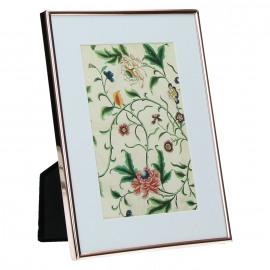 ZILIA - Photokader - wite passe partout - metaal - koper - 10 x 15 cm