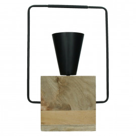 RIGGIO - table lamp - mango wood / metal - L 29 x W 12 x H 47,5 cm - black