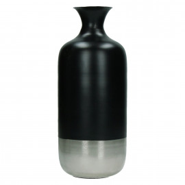 BAHAI - Vase - brass - black base - M - Ø 12 x 30 cm