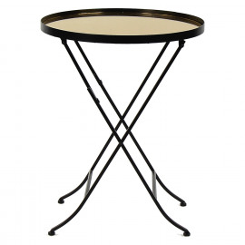 PALACE - side table + mirror - metal - gold - DIA 50 x H 66 cm