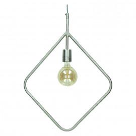 ASTI - hanging lamp - metal -  pewter - 60x5x41 cm