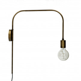 ILENA - wall lamp - metal - L 47 x W 11 x H 56 cm - gold