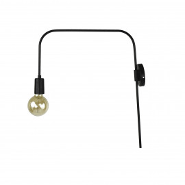 ILENA - wall lamp - metal - L 47 x W 11 x H 56 cm - black