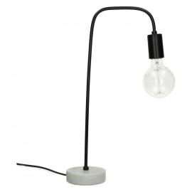 IZZY - lamp - marmer/metaal - zwart - 21x13x49cm
