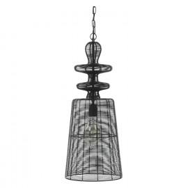 LARKIN - hanglamp - metaal - zwart - DIA 25 x H59cm