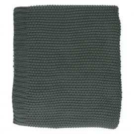 PURE - throw - cotton - grey - 125x150cm