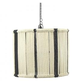 ANTHOS - Hanglamp - E27 - touw - verticale tekening - bicolor - Ø50 x 40 cm