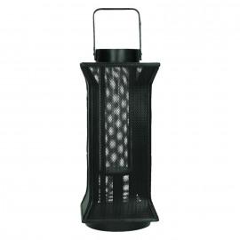 SAKATA - lantern - metal/bamboo - black - 17,5X17,5X40,5cm