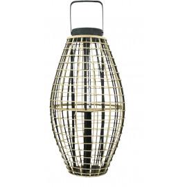 OTARU - lantern - bamboo - L 34,5 x 34,5 x 66 cm - black